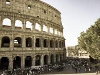 Outside the Colosseum.