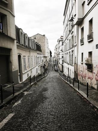 A typical Parisian street.